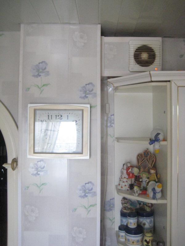 Венткороб уменьшен для продления кухни