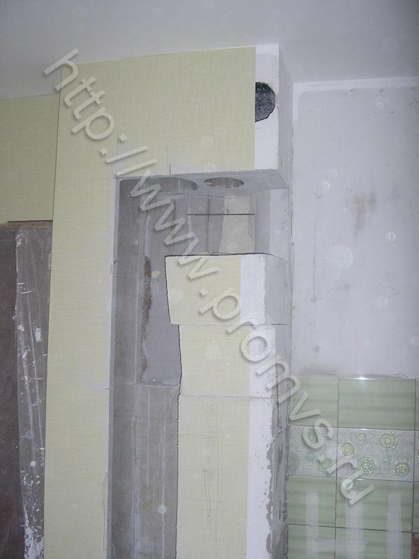 Снос венткороба на кухне